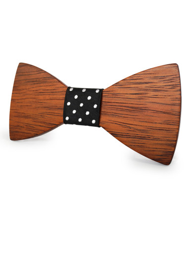 Texture Bamboo Fiber Bow Tie For Men