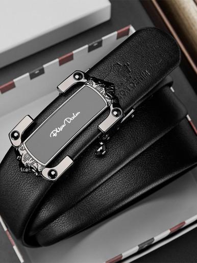 Stylish Plaque Buckle Leather Belt For Men