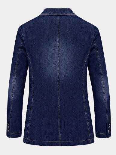 Slim Denim Suit Mens Jacket