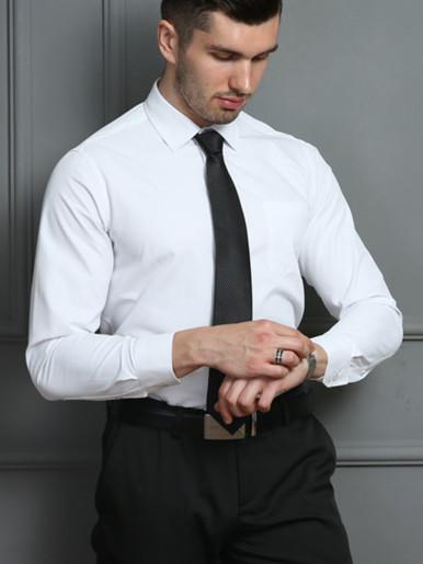 Plus Size Men Smart Casual Shirt