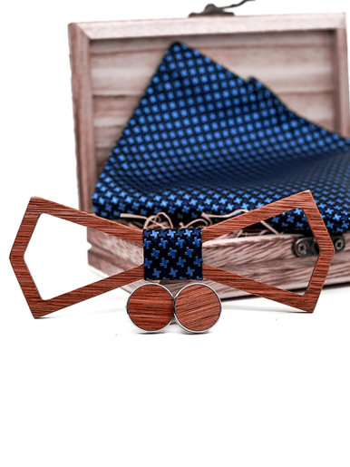 Hollow Cut Out Wooden Bow Ties For Men