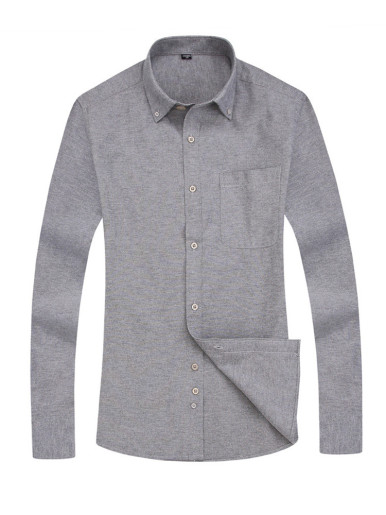 Solid Color Business Men Shirt
