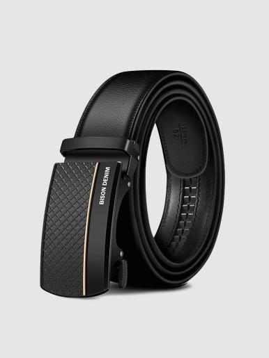 Automatic Buckle Leather Ratchet Belt For Men