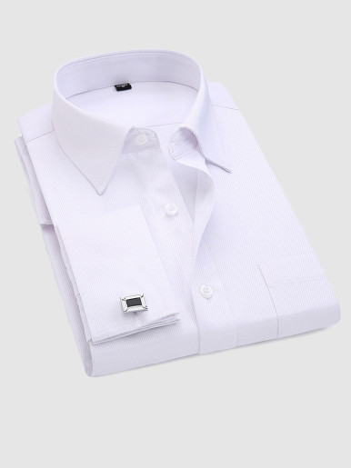 Long Sleeve Men Shirts with Cufflinks