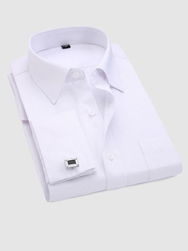 Long Sleeve Men Shirts with Cufflinks
