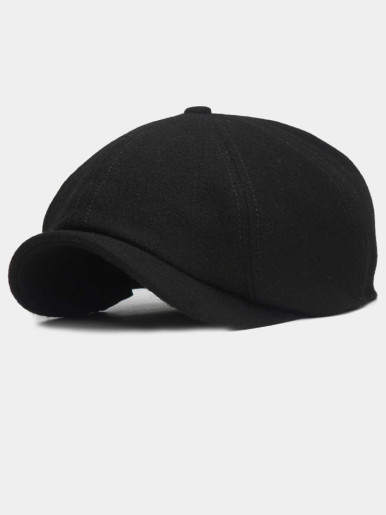 Solid Color Peaked Cap Men Berets