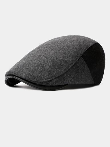 Men's Wool Flat Ivy Gatsby Newsboy Driving Hat Cap