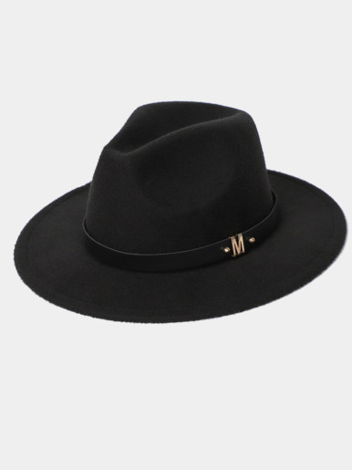 Men / Women Felt Fedora Hat with Size Adjuster