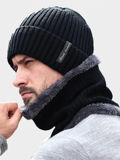 Winter Men's Turn Up Beanie Hat and Neck Gaiter