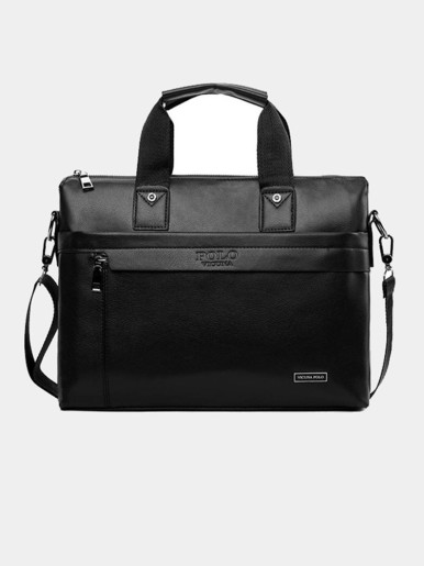 Men's Business Leather Crossbody Messenger Bag Briefcase