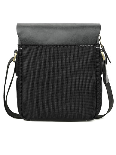 Leather Patchwork Men's Daily Messenger Crossbody Bag