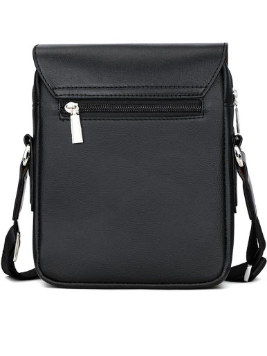 Men's Business Casual Leather Flapover Crossbody Bag