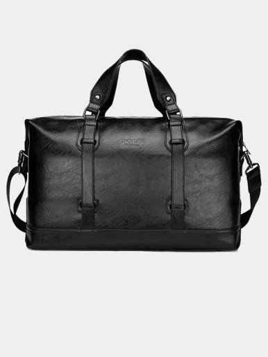 Men's Large Capacity Leather Luggage Travel Bag