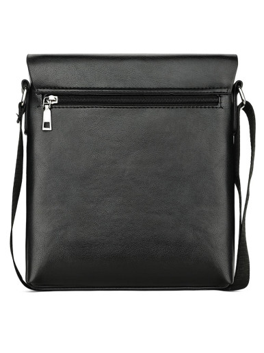 Embossed Leather Men's Crossbody Bag