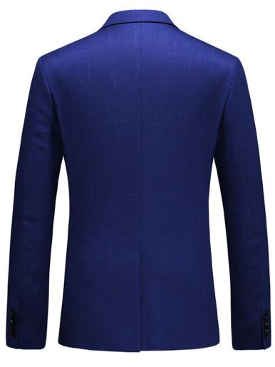 Men's Slim Fit Blazer Suit Jacket In Royal Blue