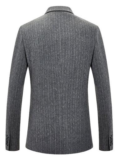 Wool Men's Suit Jacket Stripe Blazer