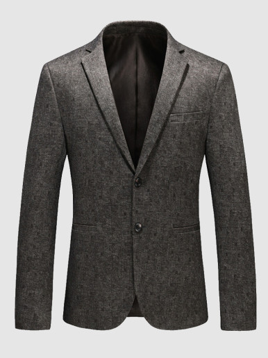 Men's Two Button Blazer Jacquard Suit Jackett