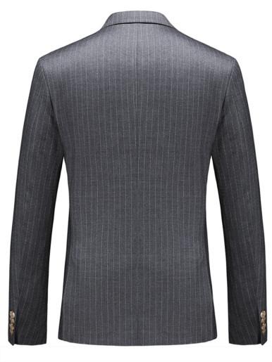Men's Dashed Stripe Suit Jacket Grey Blazer