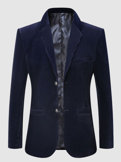 Men Corduroy Blazer Suit Jacket