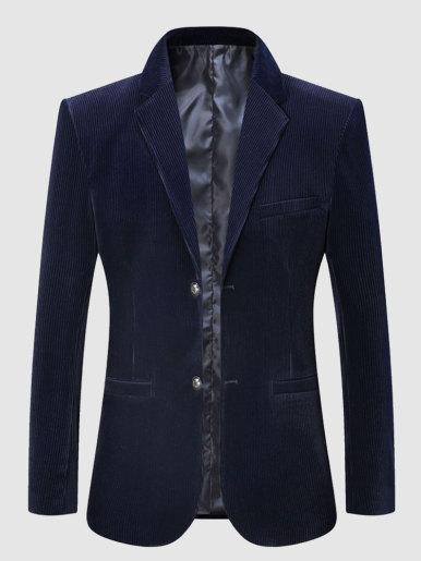 Men Corduroy Blazer Suit Jacket