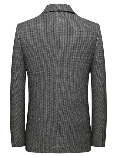 Men's Houndstooth Wool Blend Business Casual Blazer