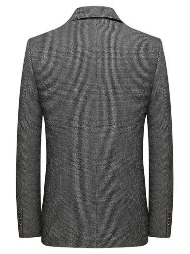 Men's Houndstooth Wool Blend Business Casual Blazer