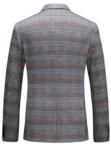 Based Check Men's Blazer Casual Suit Jacket