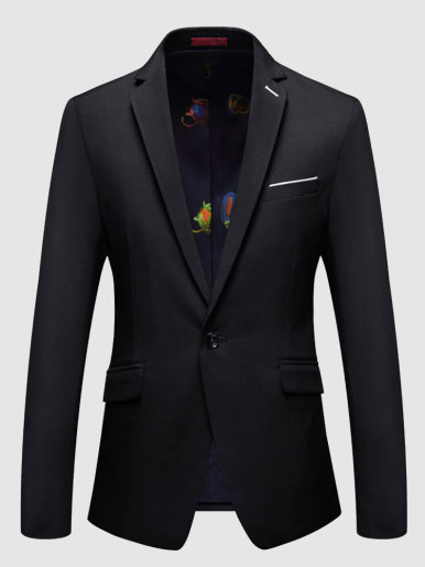 Classic Slim Fit Men Blazer Suit Jacket