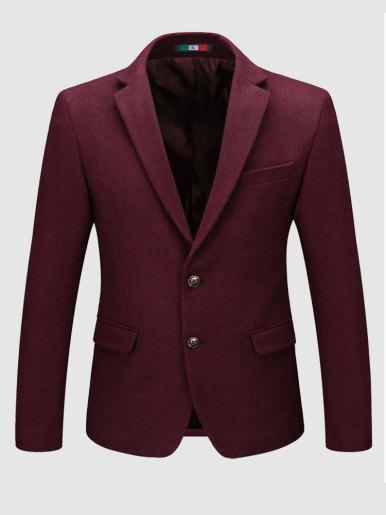 Slim Fit Men Suit Jacket Wool Mix Blazer