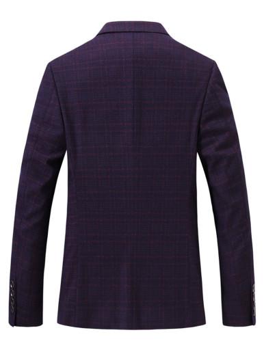 Men's Casual Suit Jacket Check Jacquard Blazer