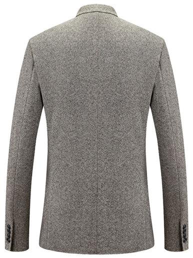 Smart Casual Men's Herringbone Blazer Dress Suit Jacket