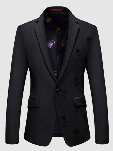 Slim Fit Jacquard Men Business Daily Blazer Suit Jacket