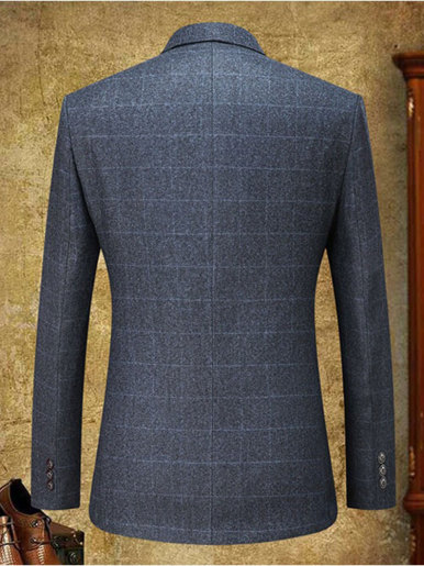 Gentleman Check Blazer Men's Suit Jacket