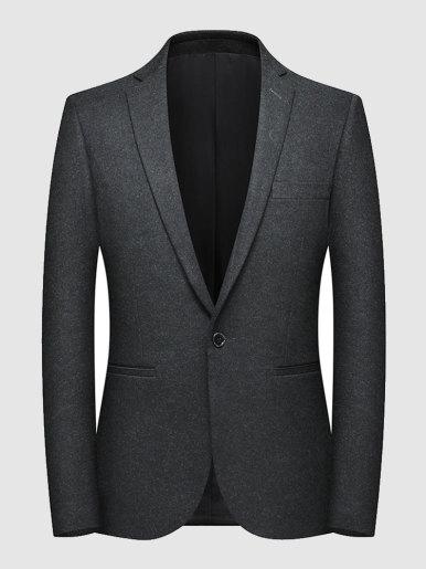 Men's Slim Fit Wool Mix Blazer Dinner Suit Jacket