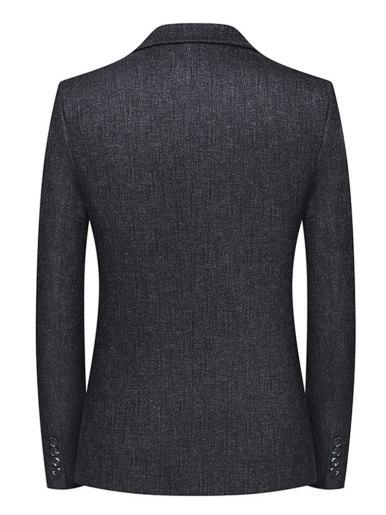 Men's Suit Jacket Texture Knit Blazer