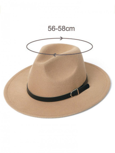 Unisex Belt Buckle Fedora Hat For Men / Women