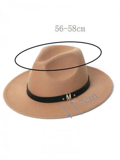 Men / Women Felt Fedora Hat with Size Adjuster
