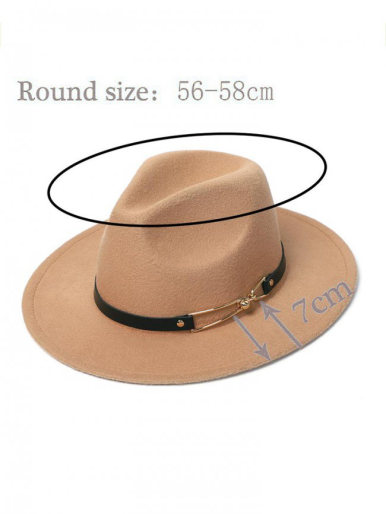 Men / Women Felt Fedora Hat with Remove Band