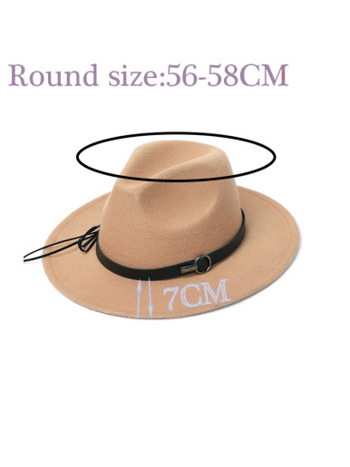 Men / Women Wide Brim Felt Fedora Hat with Band