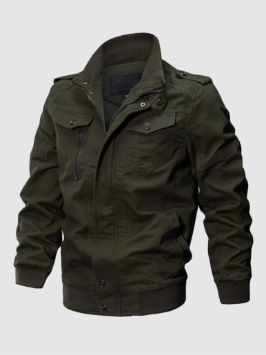 Plus Size Men Bomber Jacket
