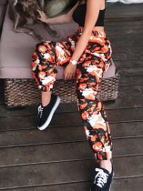 OneBling Side Tape Orange Camo Pants