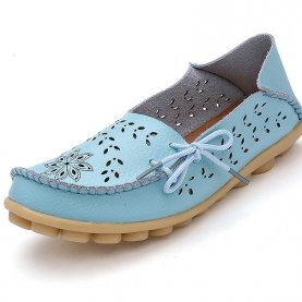 Top Quality Women Fashion Summer Hollow Out Flats Shoes Slip-on Comfort Casual Shoes Lazy Shoes