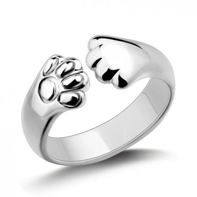 OneBling Creative Cat Claw Design Cute Ring for Women Girls Fashion Jewellery Adjustable Opening Ring Plated Claw Jewelry