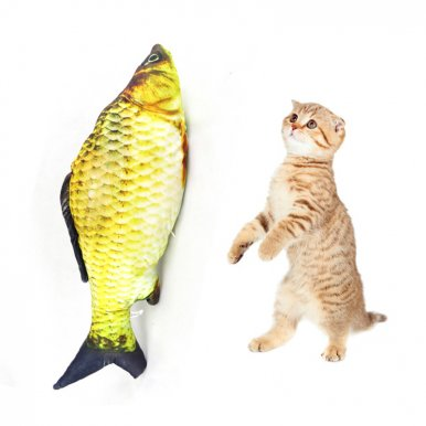 OneBling 4 Size Cat Toys 3D Print Simulation Funny Fish Shaped Pet Cat Anti-bite Toys