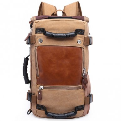 OneBling Oversized Capacity Canvas Backpack 3 Ways Luggage Bag Travelling Bag For Men