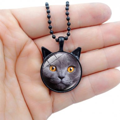 OneBling Cute Animal Pattern Vintage Glass Jewelry Pendant Necklace for Girls and Women