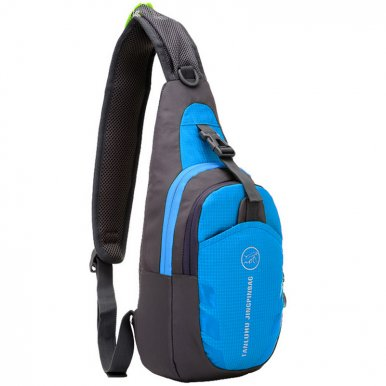 OneBling Waterproof Nylon Men Sling Bag Sports Riding Crossbody Chest Bag