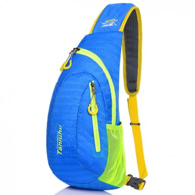 OneBling Nylon Sling Bag Waterproof and Wear Resistant sport Crossbody Chest Bag Travel Shoulder Bag