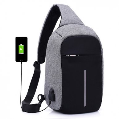 OneBling Anti-theft Waterproof Crossbody Chest Bag For Women Men Travel Bags USB Charging Laptop Bag