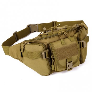 OneBling Multi-functional Nylon Crossbody Chest Bag Waterproof Outdoor Sports Waist Bag